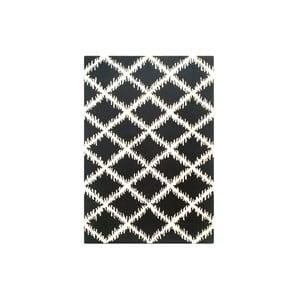 Koberec Diamond Ivory Black, 153x244 cm