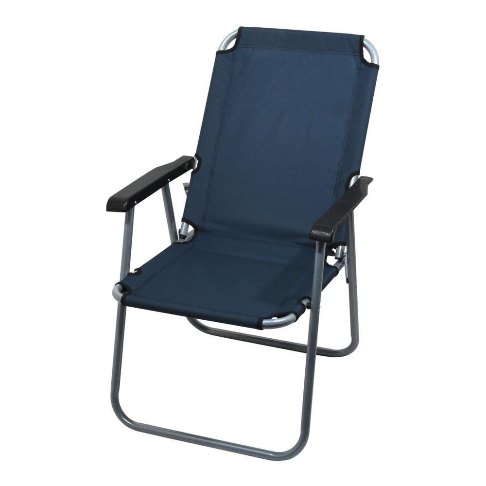 Tmavě modrá skládací kempingová židle Cattara Lyon