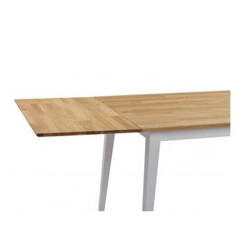 Extensie din lemn de stejar pentru masă extensibilă Rowico Mimi de la Rowico