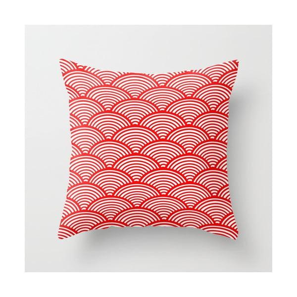 Povlak na polštář Red Waves, 45x45 cm