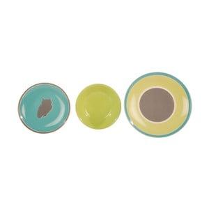 Sada 18 ks keramických talířů Night Soul Green