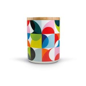 Porcelánová dóza s bambusovým víkem Remember Solena,1.62x⌀1.25dm
