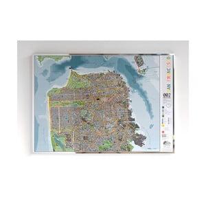 Magnetická mapa San Francisca The Future Mapping Company San Francisco City, 100 x 70 cm