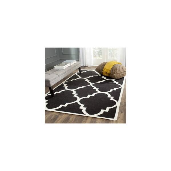 Vlněný koberec Alameda 91x152 cm, černý