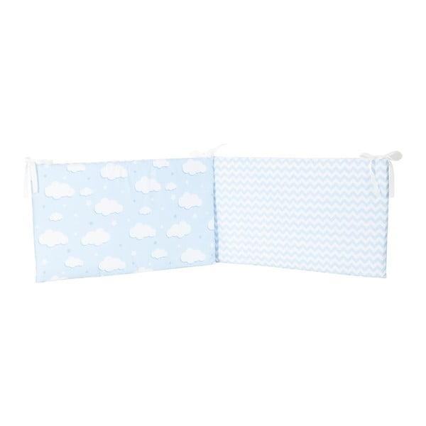 Protecție din bumbac pentru patul copiilor Apolena Carino, 40 x 210 cm, albastru