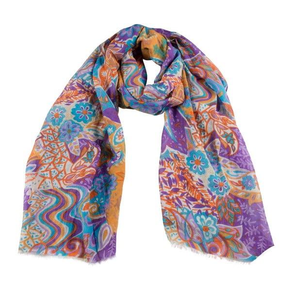 Šátek s příměsí hedvábí Shirin Sehan Marceline Skyline
