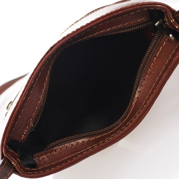 Hnědá kožená kabelka Giulia Massari Bergamo