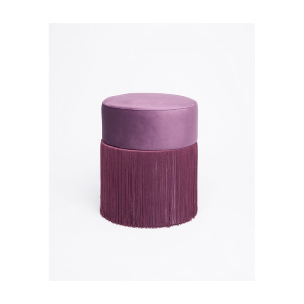 Lila puff bársony kárpittal, ø 36 cm - Velvet Atelier