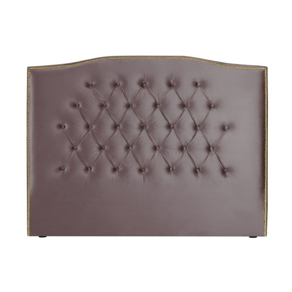 Fialové čelo postele Mazzini Sofas Anette, 140 x 120 cm