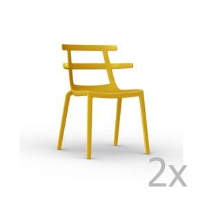 Sada 2 žlutých zahradních židlí Resol Tokyo
