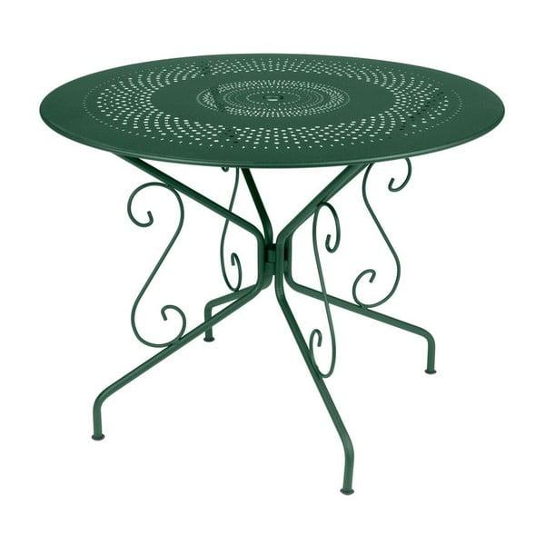 Zelený kovový stůl Fermob Montmartre, Ø96cm