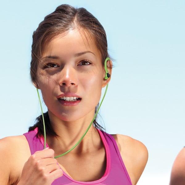 Sportovní sluchátka CELLY s mikrofonem, zelená