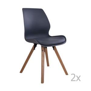 Sada 2 šedých židlí House Nordic Rana