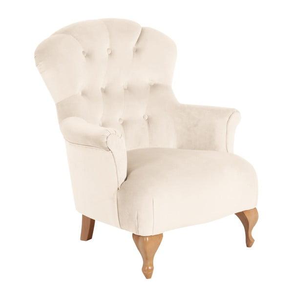 Camilla Velvety Velor krémszínű fotel - Max Winzer