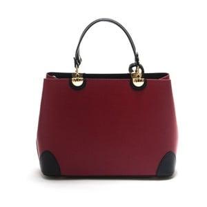 Červeno-černá kožená kabelka Isabella Rhea Ludisia