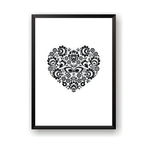 Plakát Nord & Co Floral Heart, 21 x 29 cm