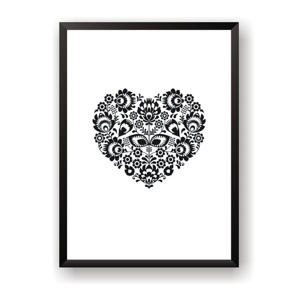 Poster Nord & Co Floral Heart, 40 x 50 cm