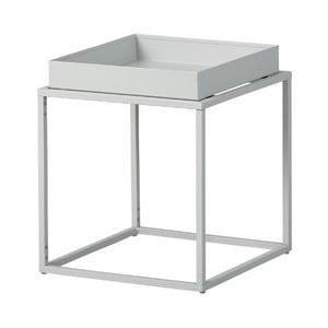 Šedý kovový odkládací stolek Intersil Club NY