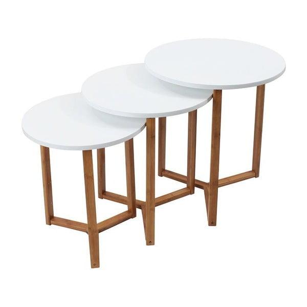 Sada 3 kávových stolků White Bamboo