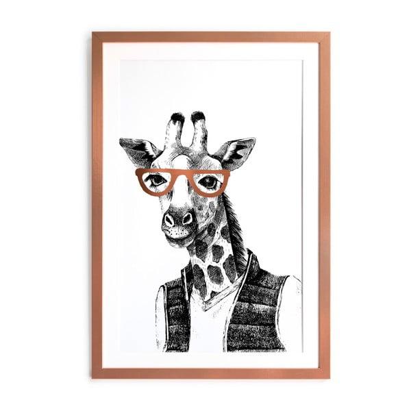 Zarámovaný plakát Really Nice Things Giraffe, 40x60cm