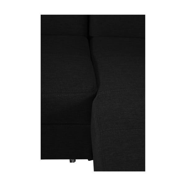 Černá rozkládací pohovka Modernist Icone, pravý roh