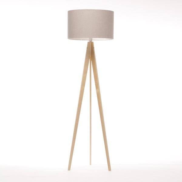 Krémová stojací lampa 4room Artist, přírodní bříza, 150 cm