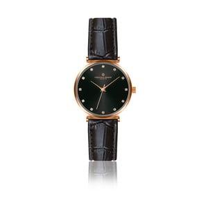 Dámské hodinky s černým páskem z pravé kůže Frederic Graff Tess