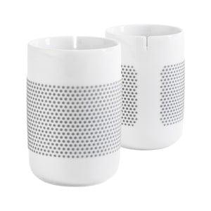 Set hrnečků na čaj Touch! Five Senses, šedé puntíky