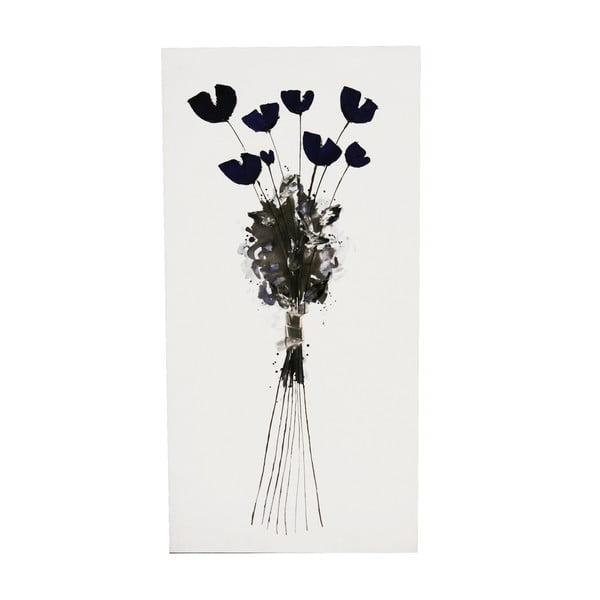 Olejová malba Blue, 50x100 cm