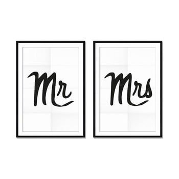 Set 2 tablouri Really Nice Things Mr&Mrs 40 x 60 cm