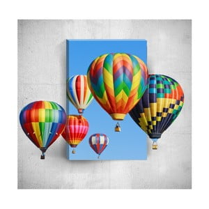 Nástěnný 3D obraz Mosticx Colourful Air Balloons, 40 x 60 cm