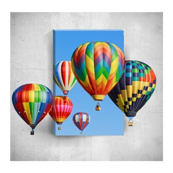 Colourful Air Balloons 3D fali kép, 40 x 60 cm - Mosticx