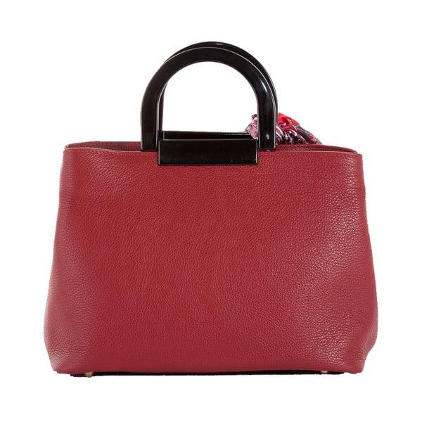 Červená kabelka z pravé kůže Andrea Cardone Angelo