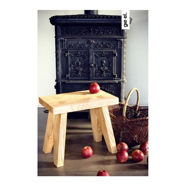 Dřevěná stolička Gie El Home Stool, přírodní dřevo