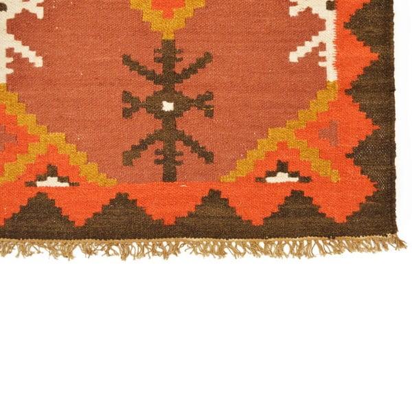 Ručně tkaný koberec Orange Indians, 120x180 cm