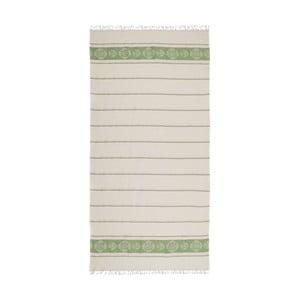 Zelenobéžová hammam osuška Deco Bianca Loincloth Smeh Green, 80x170cm