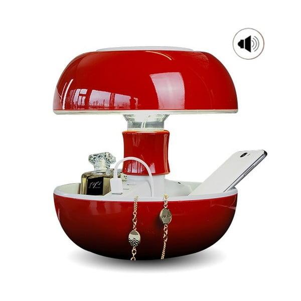 Stolní lampa, nabíječka a reprák v jednom Joyo Classic, červená