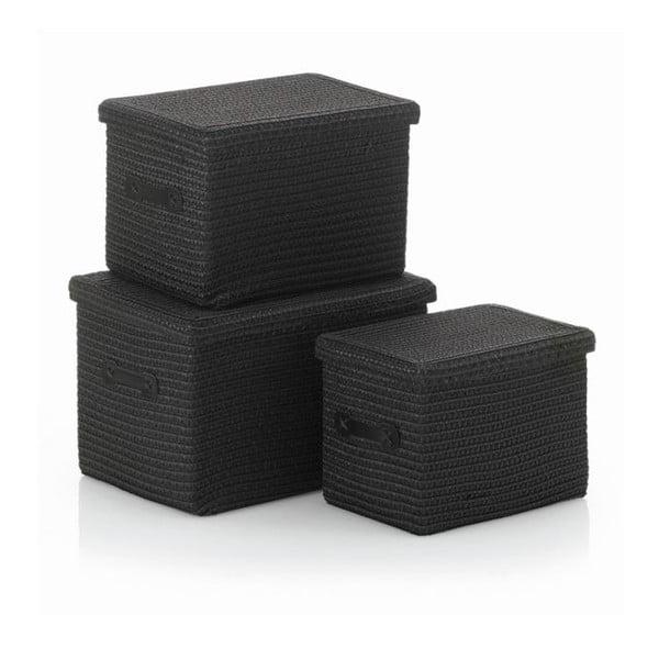 Sada 3 košíků Rimossa, černá