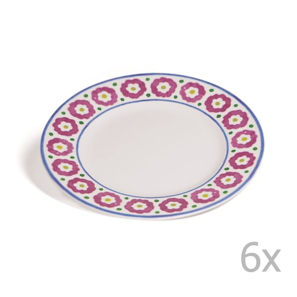 Sada 6 dezertních talířů Toscana Monteriggioni, 21.5 cm