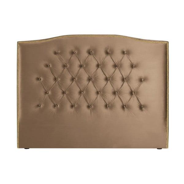 Tmavě béžové čelo postele Mazzini Sofas Anette, 200 x 120 cm