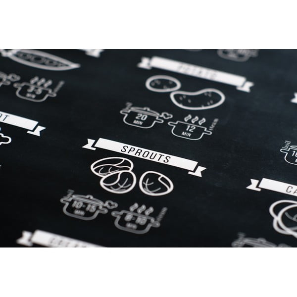 Plakát Follygraph Cooking Times Black, 50x70 cm