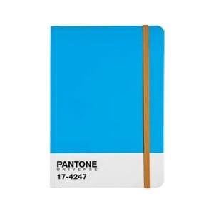 Zápisník s barevnou gumičkou Diva Blue/Autumn Glory 17-4247
