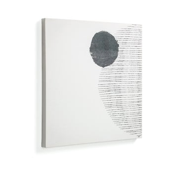 Tablou La Forma Prism, 50 x 50 cm, alb-negru