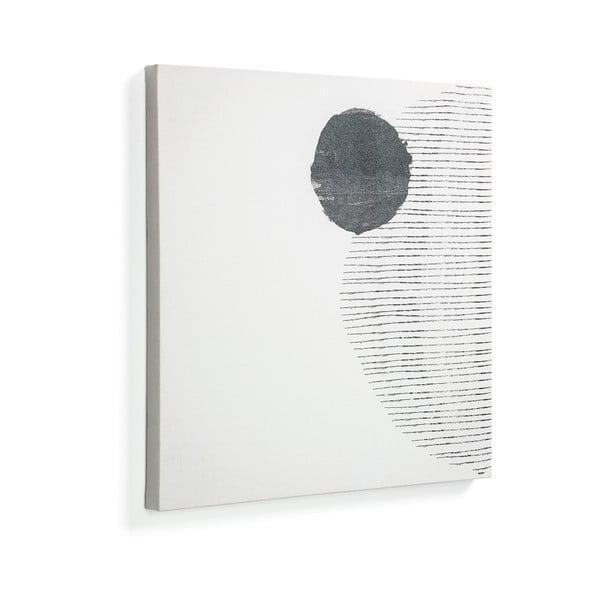 Bílý obraz La Forma Prism, 50 x 50 cm