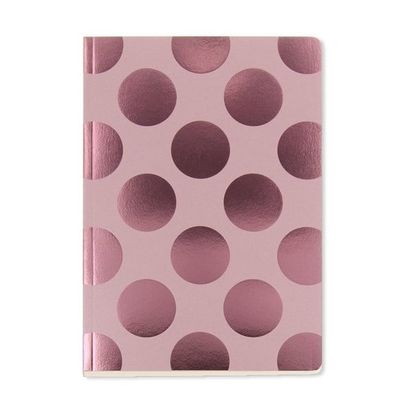 Notes A5 GO Stationery Polka Blush