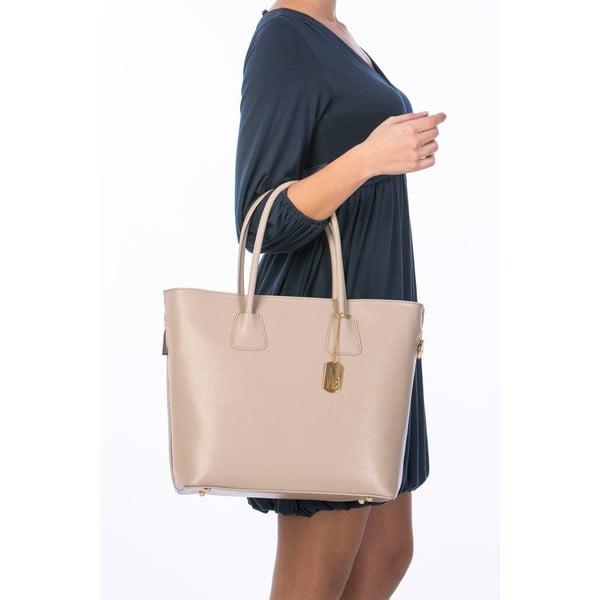 Kožená kabelka Saffiano Taupe