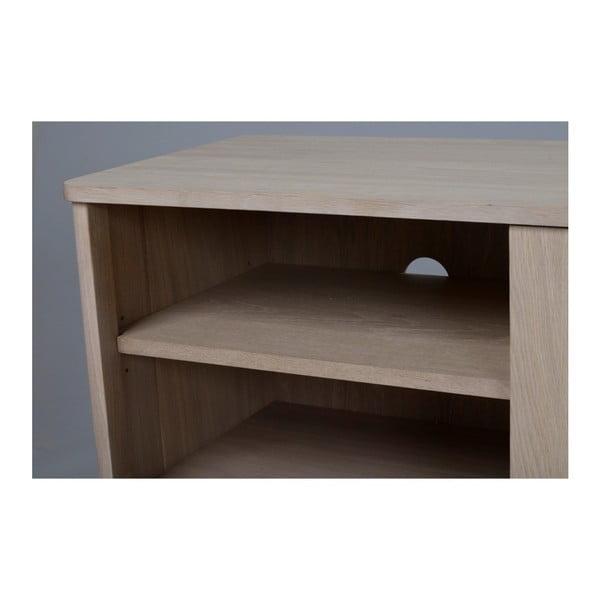 Televizní stolek z běleného dubového dřeva Yumi Folke
