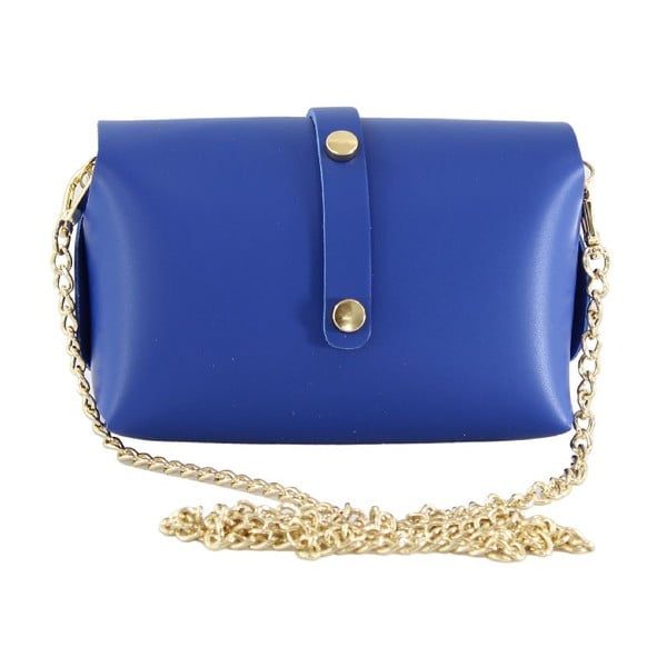 Kožená kabelka přes rameno Slaygie, modrá
