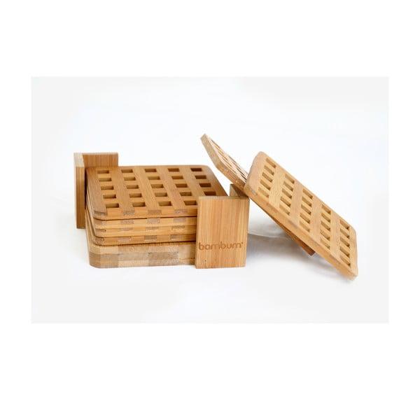Bambusové podtácky, 6 ks