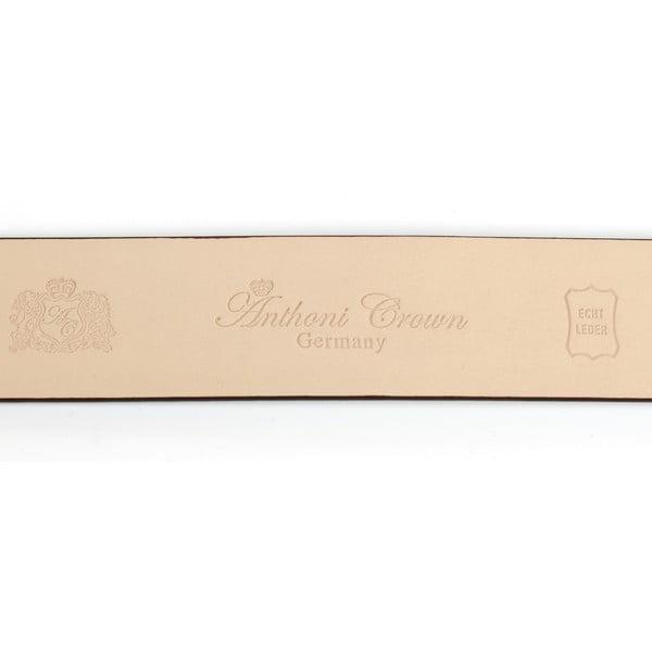 Pánský kožený pásek 37J40 Brown, 90 cm